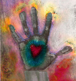 Hand with heart image